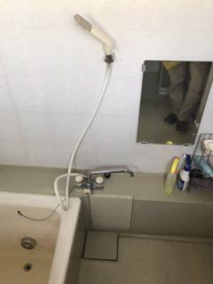 ユニットバス、デッキシャワー水栓交換