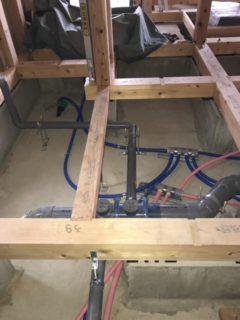 一般住宅、 新築内部配管、 ヘッダー配管