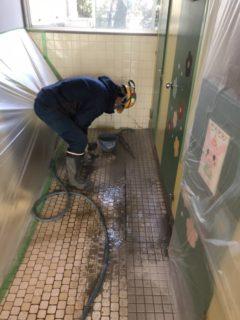 浜松市内 幼稚園トイレ排水管修繕工事